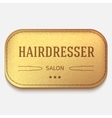 banner Leather label hairdresser logo or vector image