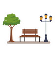 bench in the park vector image