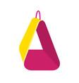 bird soft hammock icon in flat style vector image vector image