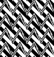 Black and white alternating zigzag with diagonal vector image