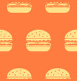 burger line icon seamless pattern vector image