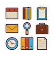 Business and Office Life Items Modern Flat Icons vector image vector image