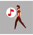 character bubble speech with music note vector image