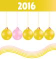 christmas ball gold 2016 vector image vector image