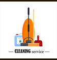 cleaning service set house cleaning tools with vector image vector image
