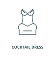 cocktail dress line icon cocktail dress vector image vector image