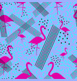 colorful seamless pattern in memphis style with vector image vector image