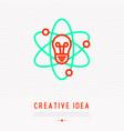 creative idea concept thin line icon vector image