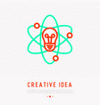 creative idea concept thin line icon vector image vector image