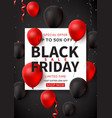 dark promo poster for black friday sale vector image vector image