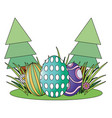 easter eggs hunt vector image