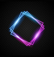 glowing neon frame with light effect vector image vector image