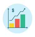 Graph Icon Flat vector image vector image