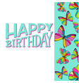 happy birthday greeting card template with vector image vector image