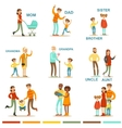 Happy Large Family With All The Relatives vector image vector image
