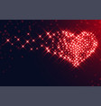 hearts made with sparkles for valentines day vector image vector image