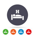 Hotel sign icon rest place sleeper symbol