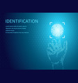 identification fingerprints poster digital data vector image vector image