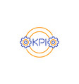 kpi icon line on white vector image vector image