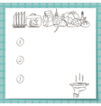 list for culinary records includes potatoes vector image vector image