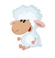 little lamb sits vector image