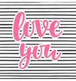 Love You poster vector image vector image