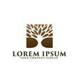 luxury tree logo design concept template vector image vector image