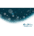 magic christmas greeting card background vector image
