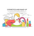 make up beauty woman concept vector image