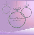merry christmas and happy new year silver vector image vector image