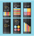 mobile phone infographics in flat color design vector image vector image