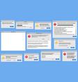modern pc window user interface design app vector image vector image