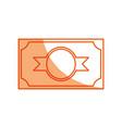 money billet symbol vector image vector image