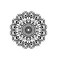 monochromatic flower mandala vintage decorative vector image