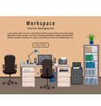 office interior workspace workplace organization vector image vector image