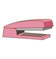 pink stapler on white background vector image vector image