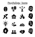 psychology icon set vector image vector image