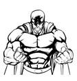 raging superhero vector image vector image