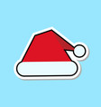 red santa claus hat icon isolated christmas vector image vector image