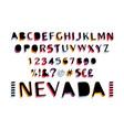 retro bold font vector image