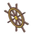 sailor ship wheel icon isometric style vector image vector image