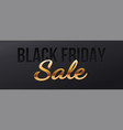sale banner for black friday golden volumetric vector image