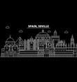seville silhouette skyline spain - seville vector image vector image