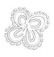 sketch draw flower cartoon vector image vector image