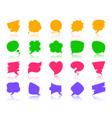 speech bubble color silhouette icons set vector image vector image