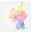 splash floral and ornamental drops background vector image