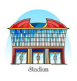 sport stadium in thin line competition building vector image vector image