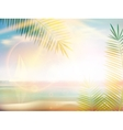 Sunrise on Caribbean beach design template vector image