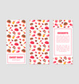 Sweet shop desserts banner templates set with