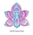 tattoo henna lotus vector image vector image